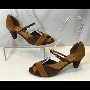 Chie Mihara Fringe Suede Open Toe Sandal - New